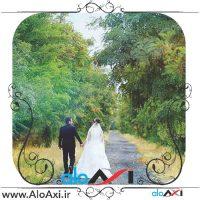 عکس عروس در باغ
